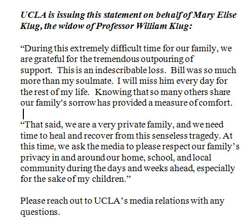 UCLA Statement