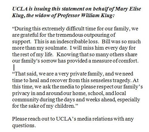 UCLA Statement